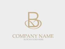 Abstract B Letter Monogram Elegant Logo Design Stock Photo