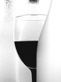 Abstract B&W Wine Glassware Design Stock Image