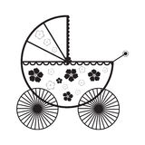 Abstract baby carriage. Vector illustration Royalty Free Stock Photo