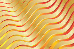 Abstract background. Abstract gold background with waves Stock Photography