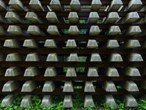 Abstract bacground of the rails and sleepers Royalty Free Stock Images