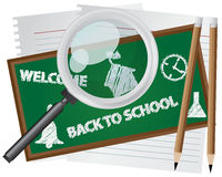 Abstract Back to School. Background royalty free illustration
