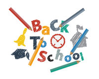 Abstract Back to School Background. Abstract Back to School with Colored Pencil Background royalty free illustration