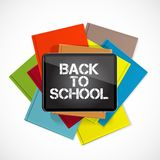 Abstract Back to School Background. Vector Illustration. EPS10 stock illustration