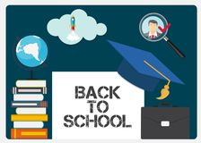 Abstract Back to School Background. Vector Illustration. EPS10 royalty free illustration