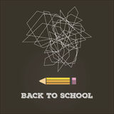 Abstract back to school. Poster design for back to school abstract vector Royalty Free Stock Image