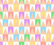Abstract back to school seamless vector pattern with a set of colored pencils. Seamless tiling pattern can be used for wallpaper, pattern fills, web background Stock Images