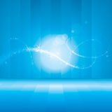 Abstract Backdrop. Abstract blue backdrop with magical Lights Stock Illustration