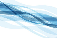 Abstract backdrop with blue waves. And full of energy royalty free illustration