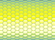Abstract backdrop in blue yellow hexagon Stock Photography