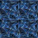 Abstract backdrop with crystals. Crystal elements as a colorful backdrop abstraction. Navy blue color palette Stock Image