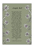Abstract backdrop design. With field flowers and place for your text Stock Photos