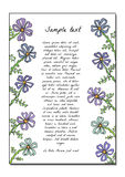 Abstract backdrop design. With field flowers and place for your text Royalty Free Stock Images