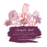 Abstract backdrop design. With field flowers and place for your text Royalty Free Stock Image