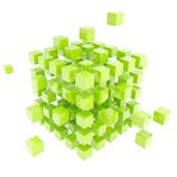 Abstract backdrop made of green cube composition Stock Image