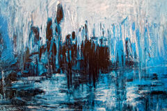 Abstract backdrop - messy grunge artistic painting. In blue Stock Photography