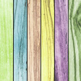 Abstract backdrop multicolored wood slabs arranged texture background. Stock Images