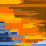 Abstract backdrop painted flat brush. Orange blue texture painted with a brush straight vetor Stock Image