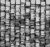 Abstract backdrop pattern in chrome silver gray Royalty Free Stock Photo