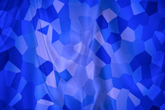 Abstract Backdrop texture. Abstract background in blue, looks like a folded curtain with mosaic tiles Royalty Free Illustration