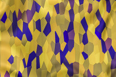 Abstract Backdrop texture. Abstract background in yellow and blue, looks like a folded curtain with mosaic tiles Stock Illustration
