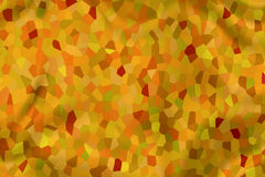 Abstract Backdrop texture. Abstract background in yellow green, orange and red, looks like a folded curtain with mosaic tiles Stock Illustration