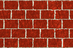 Abstract Backdrop texture. Abstract brick wall background texture in red, terracotta and white seam Stock Illustration