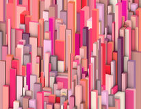 Abstract backdrop in varied pink and red shape. 3d abstract backdrop in varied pink and red shape royalty free illustration