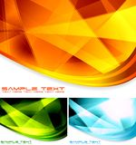 Abstract backdrops collection. Set of vector colourful backgrounds Stock Photos