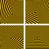 Abstract backdrops set. Striped triangles textures. Vector art Stock Photos
