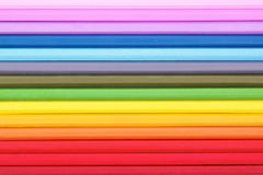 Abstract backdround of multicolored pencils Stock Images