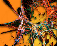 Abstract backgound. 3d colored fibers Royalty Free Stock Images