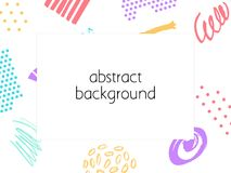 Abstract backgrond. Hand drawn template for card, flyer and invitation design. Abstract backgronds set. Hand drawn template for card, flyer and invitation stock illustration