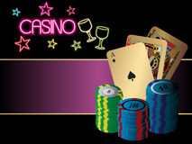 Abstract backgroud on casino theme Stock Photos