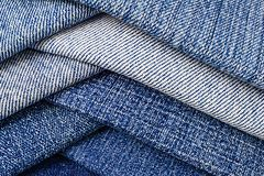 Abstract backgroud of close up denim fabric Royalty Free Stock Images