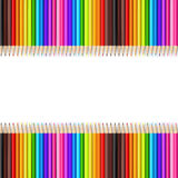 Abstract backgroud color pencil on white background  Stock Photography