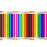 Abstract backgroud color pencil on white background Royalty Free Stock Photography
