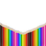 Abstract backgroud color pencil on white background with vector Royalty Free Stock Photo