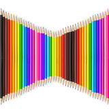 Abstract backgroud color pencil on white background with vector Stock Photo