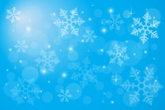 Abstract backgroud with magic bokeh and snowflake Stock Image