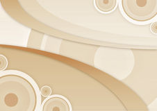 Abstract backgroun. Abstract vintage background with circle on beje Royalty Free Stock Photography
