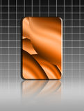 Abstract backgrounc. Orange waves sheet on gray lines background. Illustration Royalty Free Illustration