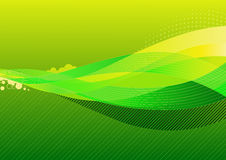 Abstract background. Vector illustration - abstract background made of green splashes and curved lines royalty free illustration