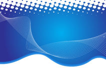 Abstract background. Illustration of abstract blue wavy background for designing purpose Royalty Free Stock Images