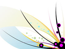 Abstract background. Vector illustartion of abstract colorful lines and shapes Royalty Free Stock Photography