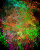 Abstract background. An explosion of colors on the black vector illustration