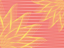 Abstract background. Abstract yellow flowers over pink stripy background vector illustration