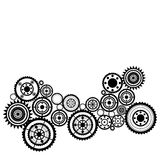 Abstract background. Abstract clockwork background, pattern with sprockets stock illustration