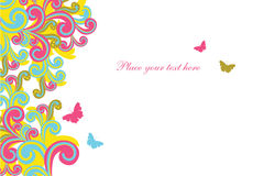 Abstract background. Image with shapes and butterflies Stock Photo