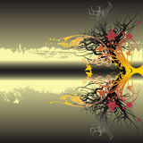 Abstract Background. Template illustration with flourishes Royalty Free Stock Photos